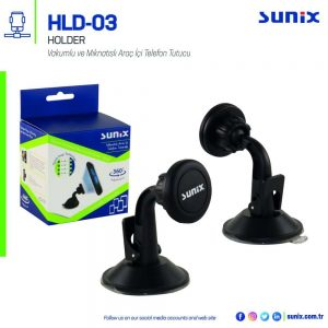Araç İçi Vantuzlu Telefon Tutucu Sunix HLD-03